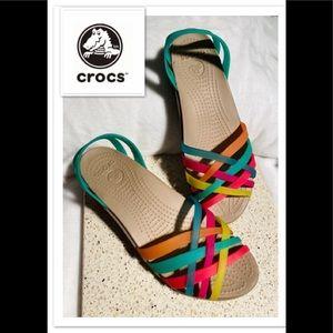 CROCS Rainbow Strappy Sandals 🌈 sz 7